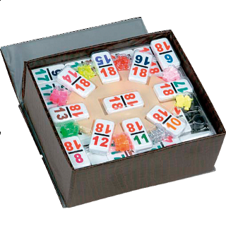 Mexican Train Dominoes Double 18 (NUMBERS)
