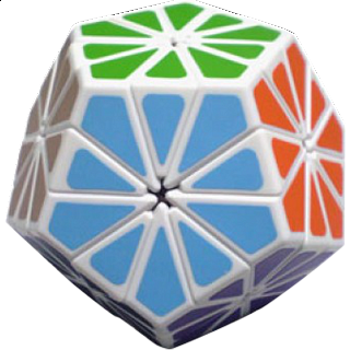 Pyraminx Crystal with White Body