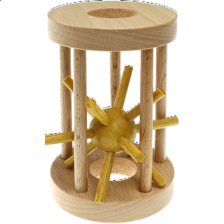 Hedgehog in a Cage - Yellow