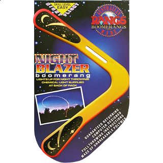 Night Blazer - polymer boomerang