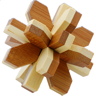 Puzzle Solution for Bamboo Wood Puzzle - Snowflake