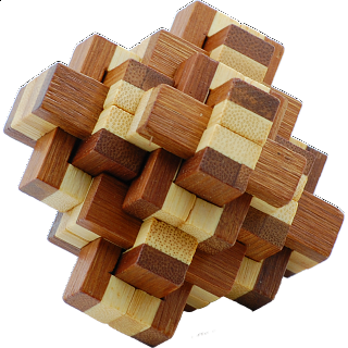 Puzzle Solution for Bamboo Wood Puzzle - Pineapple