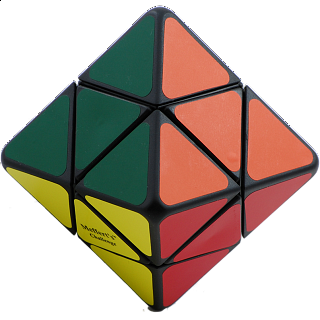 Skewb Diamond - black body - 8 color