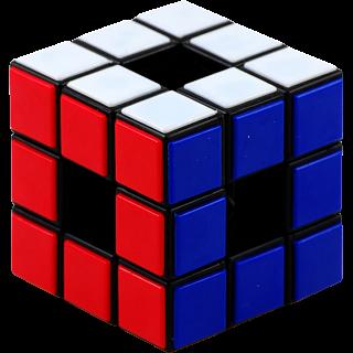 Void Cube - 3x3x3 - Black Body - Tiles