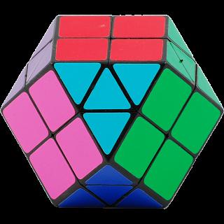 Rainbow Cube - 14 color Black Body