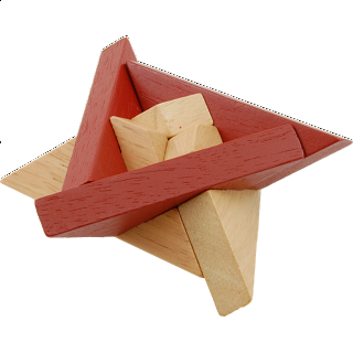 Puzzle Solution for Star of David - Wooden Puzzle
