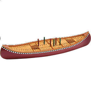 Cribbage Board - Canoe