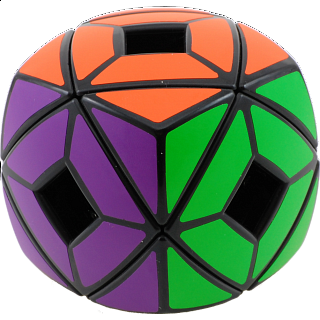 Pillowed Holey Skewb Cube - Black