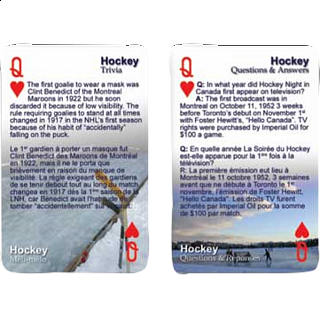 Playing Cards - Hockey Facts