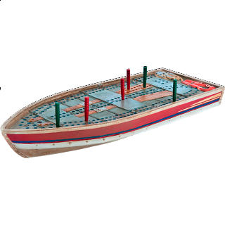 Cribbage Board - Tin Boat