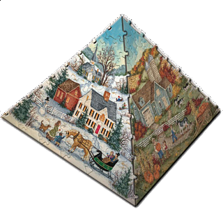 3D Pyramid Puzzle - The Four Seasons