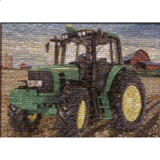 John Deere - Tractor Mosaic