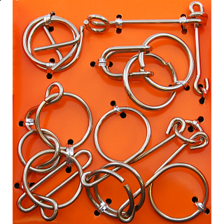 Wire Puzzle Set  #1 - Group of 4 - Hanayama