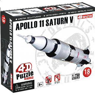 Apollo 11 Saturn V - 4D Puzzle