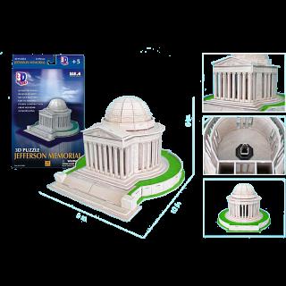 Jefferson Memorial - 3D Jigsaw