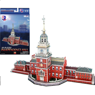 Independence Hall - 3D Jigsaw