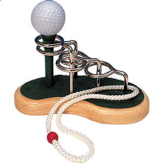 Puzzle Solution for Golf Tee - 3D Wooden String Puzzle