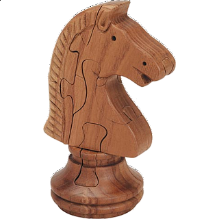 Knight Chess Piece - 3D Wooden Jigsaw Puzzle