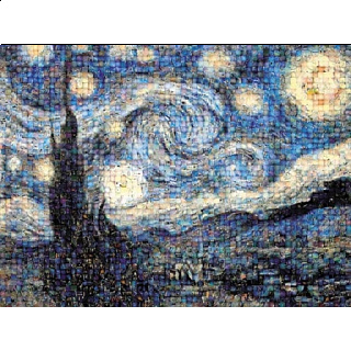 Photomosaic: Van Gogh - Starry Night