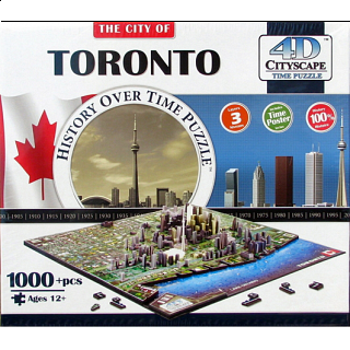 4D City Scape Time Puzzle - Toronto