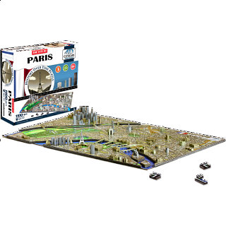 4D City Scape Time Puzzle - Paris