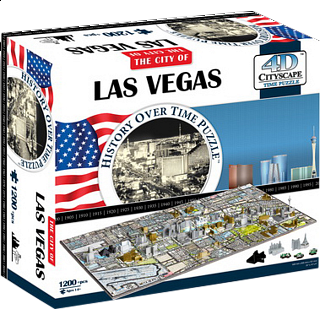 4D City Scape Time Puzzle - Las Vegas