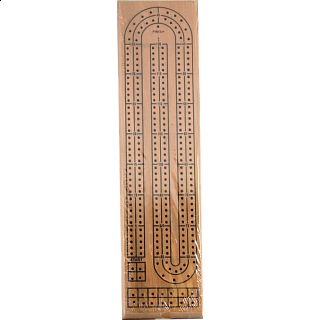 Cribbage Board: Natural Wood 2 Track