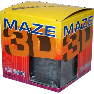 3D Ball Maze: Cube 1 - Metallic Black