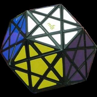 Starminx 1 - Black body - Dino Dodecahedron DIY