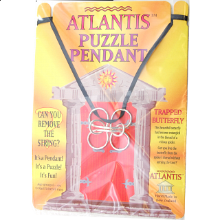 Puzzle Pendant - Trapped Butterfly