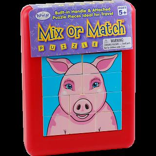 Mix or Match Puzzle - Farm Animals