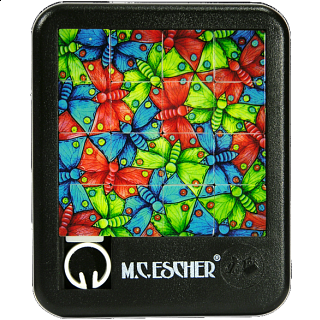 Sliding Pieces Puzzle - M.C. Escher : Butterflies