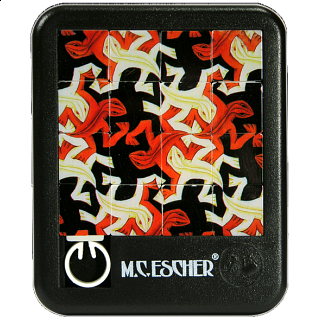 Sliding Pieces Puzzle - M.C. Escher : Lizards