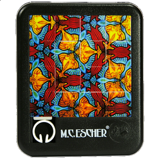 Sliding Pieces Puzzle - M.C. Escher : Birds, Fish and Turtles