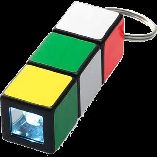 Rubik's Cube: Mini Flashlight Keychain