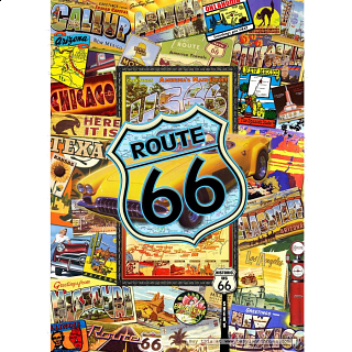 Collector Suitcase Jigsaw - Route 66