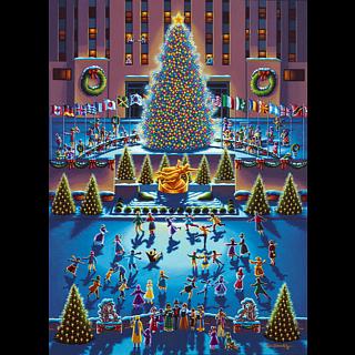 Collector Suitcase Jigsaw - Rockefeller Center