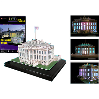 The White House - LED Lit - 3D Jigsaw Puzzle