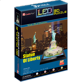 Statue of Liberty - LED Lit - 3D Jigsaw Puzzle