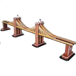 Brooklyn Bridge - 3D Jigsaw Puzzle