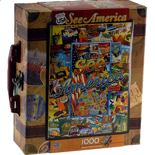 Collector Suitcase Jigsaw - See America