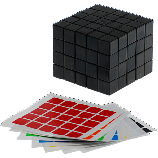 Fully Functional 5x5x4 Cube - Black Body - DIY