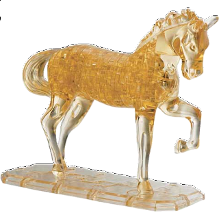 Puzzle Solution for 3D Crystal Puzzle Deluxe - Horse (Brown)