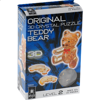 3D Crystal Puzzle - Teddy Bear - Brown