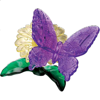 3D Crystal Puzzle - Butterfly
