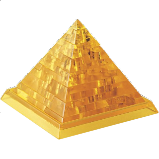 Puzzle Solution for 3D Crystal Puzzle - Pyramid