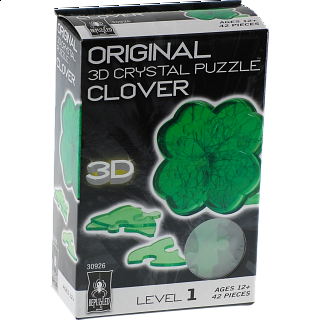 3D Crystal Puzzle - Clover