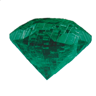 Puzzle Solution for 3D Crystal Puzzle - Gem - Emerald Green