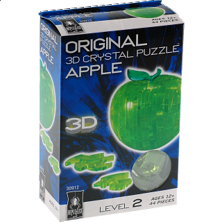 3D Crystal Puzzle - Apple (Green)
