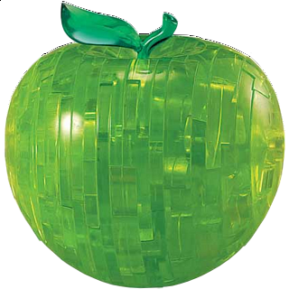 Puzzle Solution for 3D Crystal Puzzle - Apple (Green)